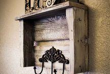 recycling - dřevěné palety + bedýnky