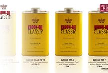 Kroon-Oil Classic Motor Oils / With over 100 years of experience, Kroon-Oil offers a complete range of lubricants especially developed for classic vehicles.  They know better than most which specifications classic oils have to meet. Based on this knowledge and available technologies, their Classic Oils have been successfully researched and developed.  The Kroon-Oil classic range meets the original vehicle specifications, which guarantees safe and optimal lubrication for classic vehicles.