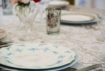 Blå mix borddekking - Blue mix table setting / Variasjoner med blått i borddekking. Stilrent og vakkert. #blue #table setting
