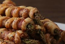 Asparagus bacon puff pastry