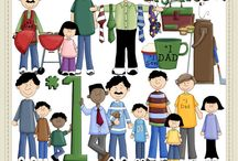 Clip Art - Father's Day / In here is all of the clip art collections I carry for Father's Day ... you can click on the image to visit the product page or visit http://www.clip-art-designs.com/clip-art/father-clip-art