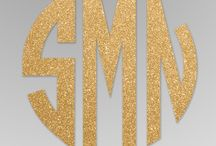 A Touch of Glitter / Make your event sparkle with glitter words, initials or your monogram inside a modern acrylic frame. Choose from a variety of words and sayings to display on gift tables, with escort cards and more. Following the event these beautifully designed words and letters can be used as décor in your home. Available in a variety of colors.
