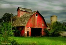 OLD BARNS AND SILOS / Why are old barns so beautiful?   Weathered wood, stone and country settings hold so much charm.