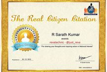 OMG Awards for The Real Citizen Citation 30/December/2012 / OMG (Opinion Making Group) Real Citizen Citation winners awarded by Mr Sarath Kumar, President, AISMK