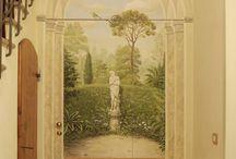 obraz malovany na stenu