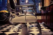Barbershop Ideas / Cool Ideas for decor for barbershop.