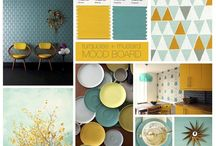 colours - turquoise & mustard
