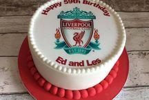 Liverpool football cakes
