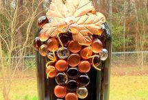 Botellas de vidrio / decoración