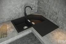 Chiuveta Granit Schock Primus C-200 / Designul clasic de chiuveta de colt.