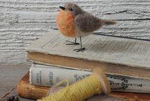 My felting works *birds