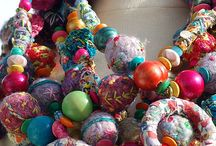 Textile necklaces / Research board for knitting necklaces / by Stitch & Yarn