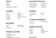 Listes de couses equilibrees