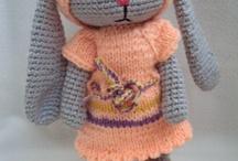 Amigurumi hares (my toys)