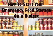 Food storage/ be prepared / Ideas for handling food storage etc
