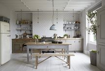 Kitchen / Scandinavian design decor white nordic style