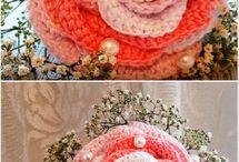 Horgolt virágok (crocheted flowers)