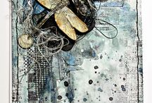 Inspirational Mixed media canvases