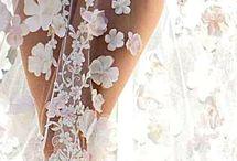 3D lace bridal wear