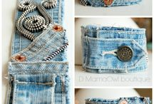Upcycled jean crafts