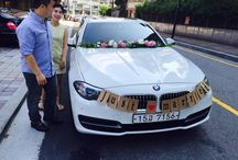 Wedding garland / For wedding car's decoration, made a flower garland.