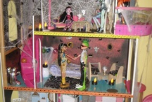 Monster High Parties and Doll houses / We love Monster High at our house. Lily wants a Monster High birthday party or Halloween party. I am currently making a MH house also for us to play with.