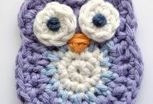 Broches crochet / Broches de ganchillo, crochet.