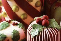 Decoração e bolos de natal