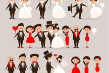 Parejas de la boda