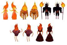 Fire characters / Personagens de fogo