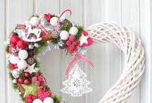 Karácsonyi ajtódíszek