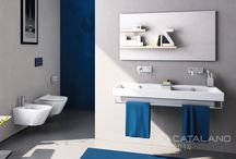 Zero Collection / Zero is the first large family of coordinated Catalano sanitary fixtures derived from a unique concept: typological versatility. A revolutionary concept that allows the individual products to lend themselves to numerous installation possibilities: wall-mounted, recessed, nested, free-standing, pedestal and countertop. The Zero collection offers a wide range of floor-based bowl fixtures, including the wall-mounted 55 toilet featuring the innovative newflushTM mechanism.