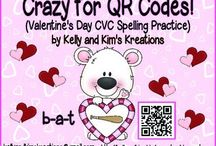 QR Codes / These are fun activities that use technology with QR codes for prek, kindergarten, first grade, and second grade classrooms.