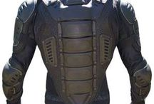 Motorbike armors looking cyborg warrior