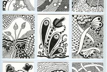 Zentangle Pattern Pages / by Victoria Anderson