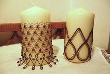 Drátkované svíčky a další svíčkové dekorace