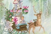 Vintage Christmas paintings/Cards