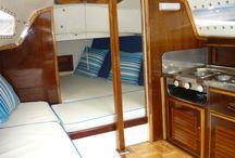 Zeilboot interieur