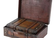wooden suitcases