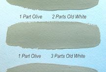 Olive - kolor tygodnia/colour of a week - Chalk Paint decorative paint by Annie Sloan