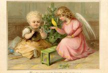 Viktorianska jul-o nyårskort