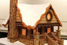 perníkové chaloupky - Gingerbread houses