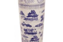 Chinese Umbrella Stands / Beautiful porcelain designs with vibrant color and detailed images.
