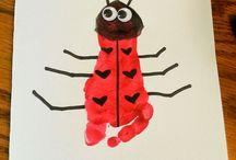 Infant valentine crafts / Art