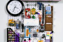 Back to School / Our pegboards and bins offer you a great way to store school supplies before, during, and after the school year!