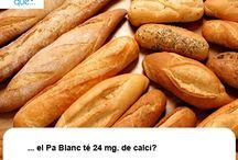 Pa / Pan  / Aquí trobaràs curiositats sobre el pa / Aquí encontrarás curiosidades sobre el pan