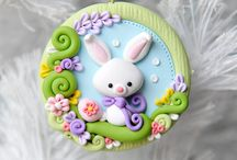 polymer clay easter