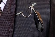Mens Feather Trends / Feather trends for men | Feather Bow Ties | Feather Lapel Pins & Boutonniere | Mens Hats | Feather Epaulettes | Feather Collars | Feather Shoes | Feather Coats