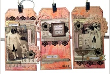 Mixed Media Place Tags