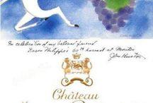 Château Mouton Rothschild / Les étiquettes des prestigieux vins du Château Mouton Rothschild, premier grand cru classé de Pauillac. >>  www.comptoirdesmillesimes.com/chateau-mouton-rothschild
